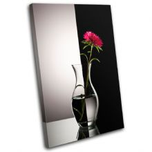 Flower in Vase Black White Floral - 13-0547(00B)-SG32-PO